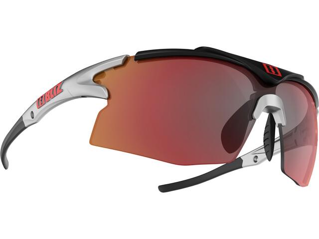 Bliz Tempo M12 Glasses silver/black with red multi